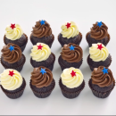 Chocolate mini cupcakes (12 pcs)