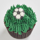 Soccer Ball mini cupcakes