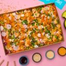 Sesame Tofu platter