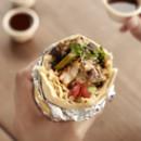SauteedVegetable Burrito With Guacamole (Spicy)