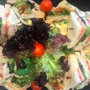 Gourmet triangle sandwiches