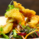 Salt & pepper squid salad