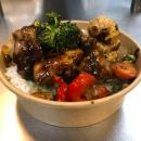 Beef Stir fry + rice