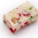White Christmas fruit slice
