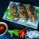 Vegetarian rice paper rolls (3pcs)