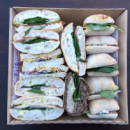 Assorted gourmet sandwiches