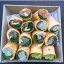 Assorted gourmet wraps
