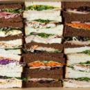 Assorted ribbon sandwiches