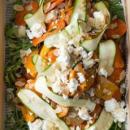 Pumpkin, carrot & feta salad