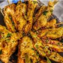 Chermoula chicken skewers