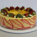 Mango mousse torte