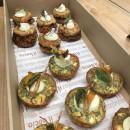 Assorted vegetarian Mediterranean tarts