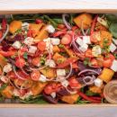 Pumpkin, beetroot & feta salad