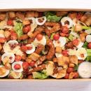 Italian crumbed chicken caesar salad
