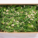 French beans & snow pea salad