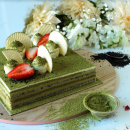 Matcha Green Tea & Roasted Black Sesame Cake