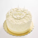 White chocolate flake cake
