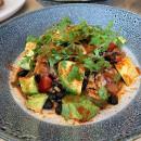 Spicy smoked salmon & avocado salad