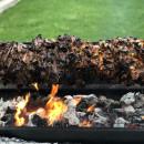 Pork charcoal spit