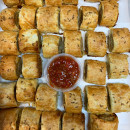 Sausage roll in puff pastry
