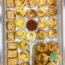 Assorted pies & sausage rolls