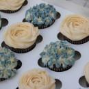 Vintage Blue Cupcake
