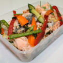 Salmon and Crunchy Asian Salad