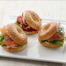 Mini breakfast bagel