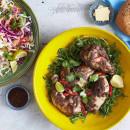 Jamaican jerk chicken platter (served cold) (pp)