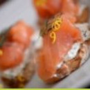 Smoked salmon crostini