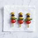 Cherry tomato, Kalamata & green olives skewer