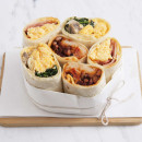 Scrambled Egg, Spinach & Mushroom Wrap