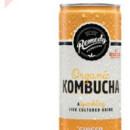 Remedy Kombucha Ginger & Lemon 24 x 250ml Cans