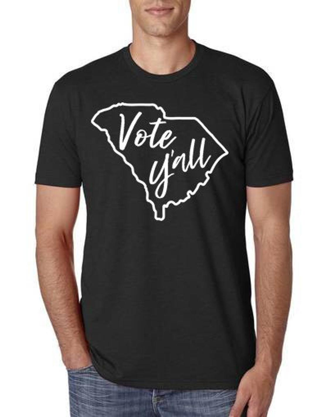 Vote Y'all T-shirts onsale to benefit the Vote Builder Project