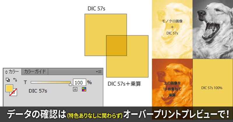 Illustrator・InDesignで同じ色の特色を乗算で重ねると特色が濃く表示される時の解決方法