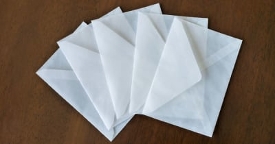 グラシン紙の封筒
