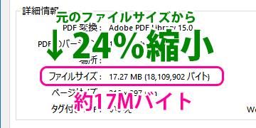 ファイルサイズが17MバイトのPDFファイル