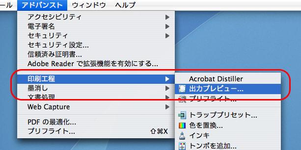 Acrobat9 Proで特色のオブジェクトだけを表示する(2)