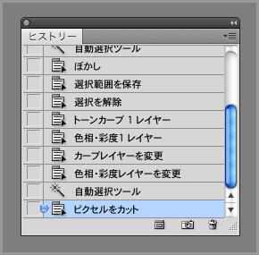 Photoshopのヒストリー機能(11)