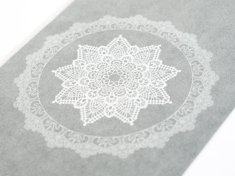 グラシンワンポイントプリント ホワイト印刷