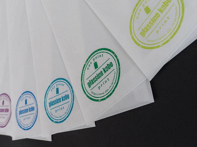 グラシンワンポイントプリント フルカラー印刷