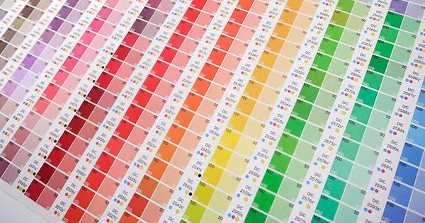 グラシンラッピングペーパー(包装紙) カラーチャート柄