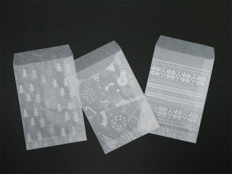 グラシンワンポイントプリント ホワイト印刷の例