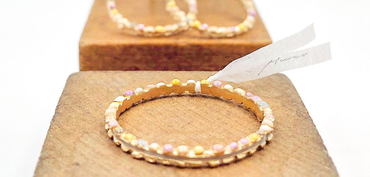 Muro glass jewelry / リボン(Chisato Muro様)