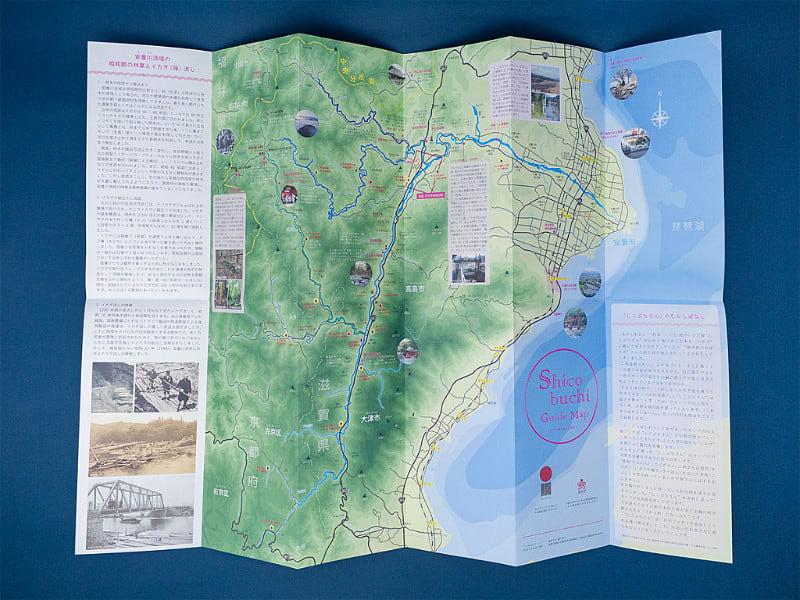 マップ折りの観光ガイドマップ