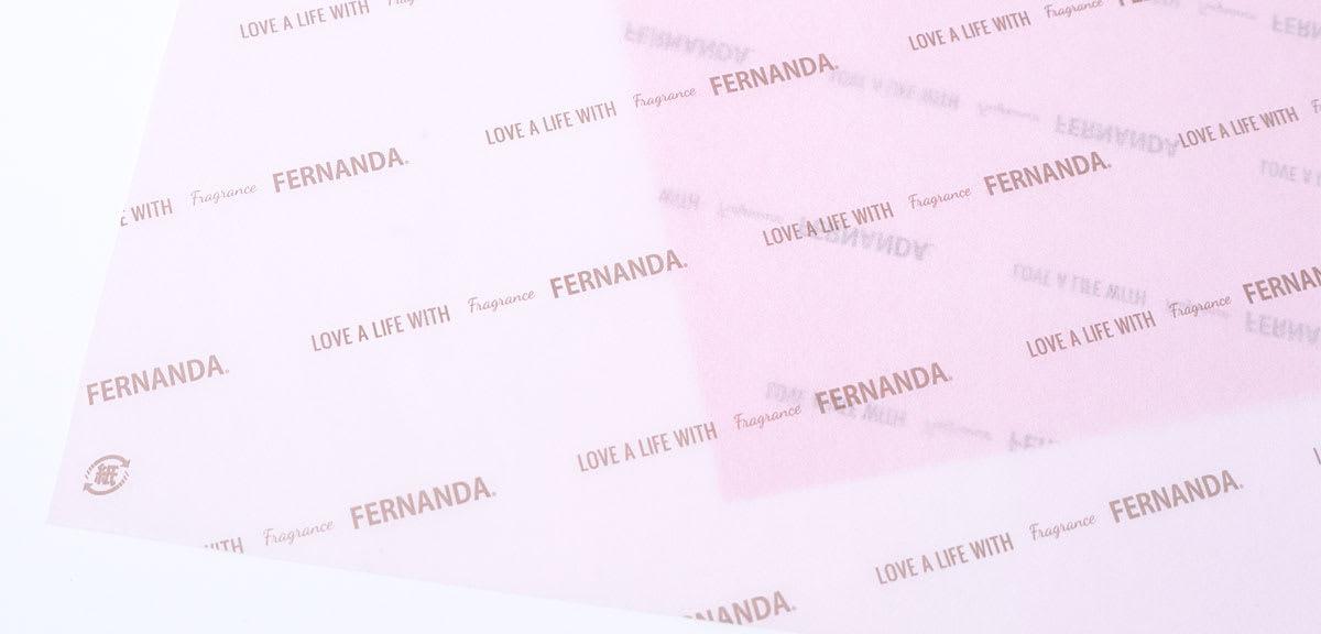 包装紙での事例 - フェルナンダ - 用紙:tカラペ