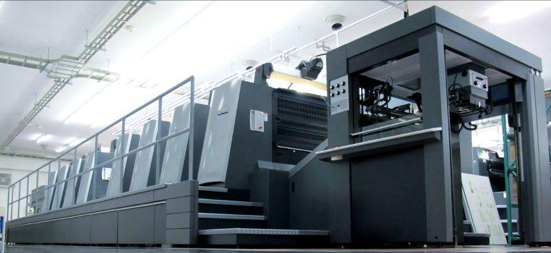 大型印刷機の写真