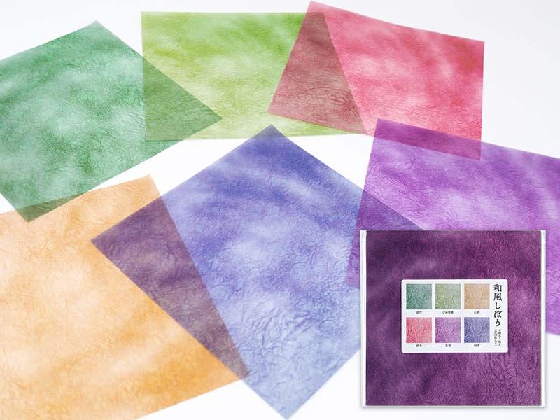 カラーグラシン和風しぼり 6色セット