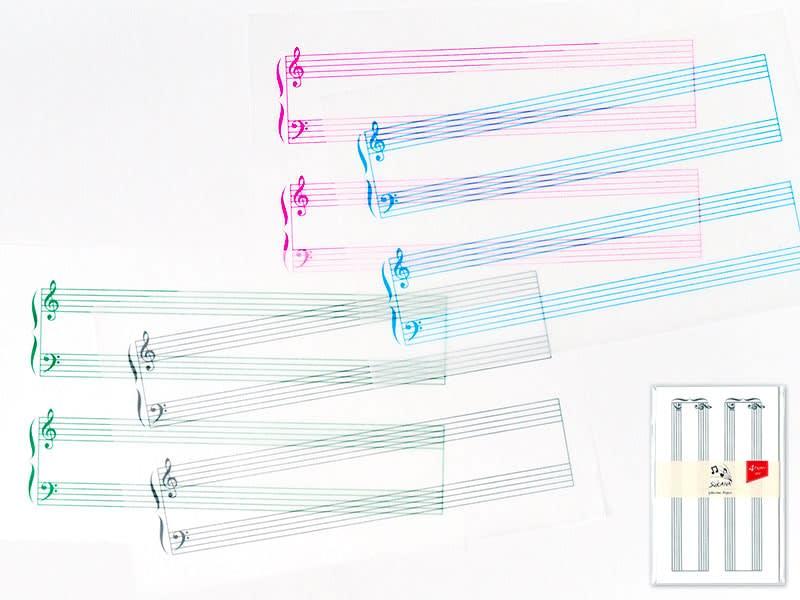 グラシンミニ楽譜 4色セット