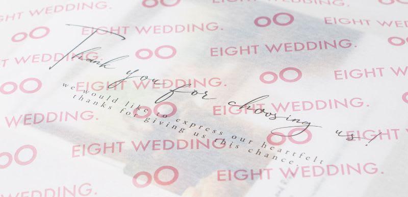 薄紙印刷事例:Eight wedding / 包装紙